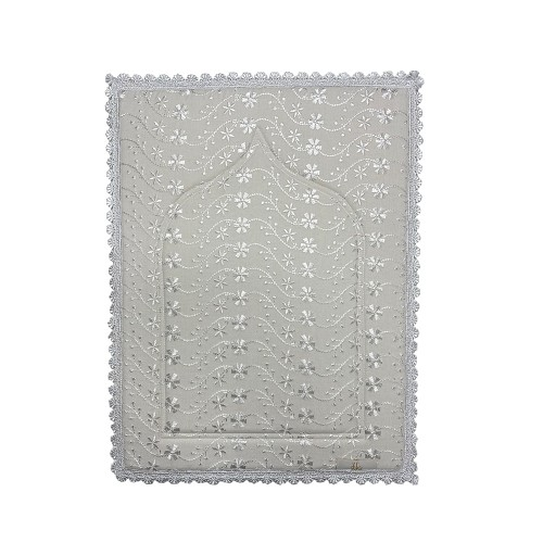 Mini Sajada - White (Small Lace)