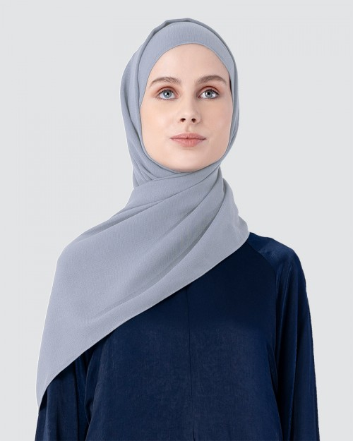 Milda Shawl - Light Grey Blue