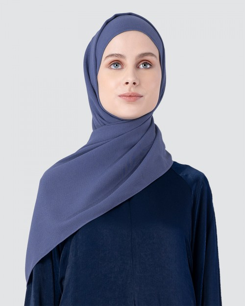 Milda Shawl - Medium Dusty Cyan Blue
