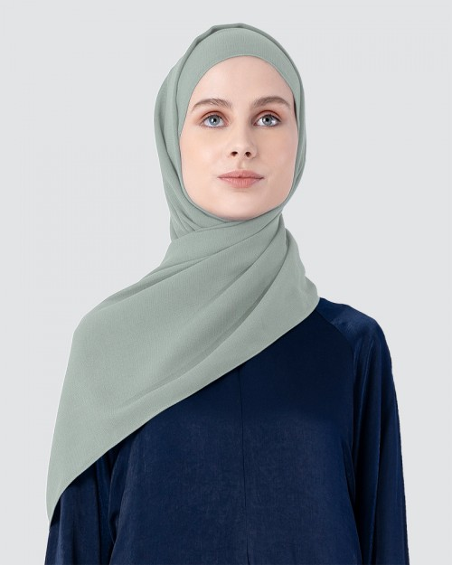 Milda Shawl - Medium Light Cyan Green