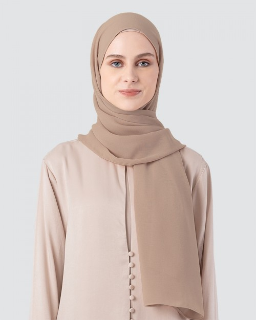 Milda Shawl - Soft Brown