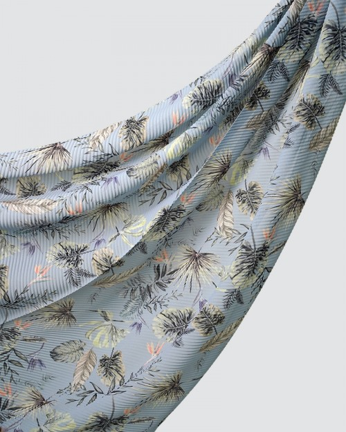 Printed Pleated - Bora - Light Blue