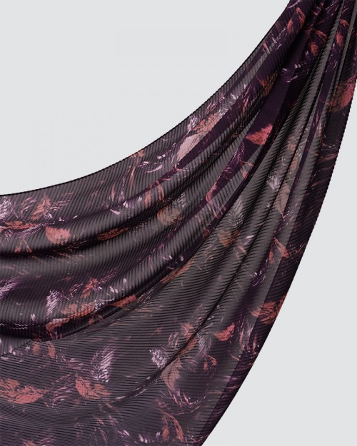 Printed Pleated - Tila - Light Pink Purple