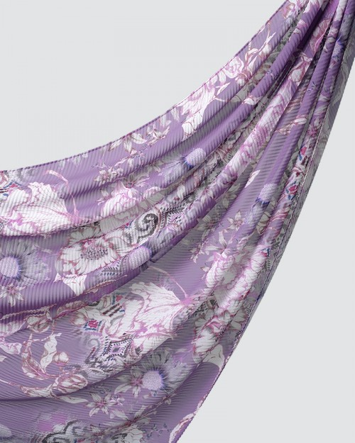 Printed Pleated - Tribo - Light Purple